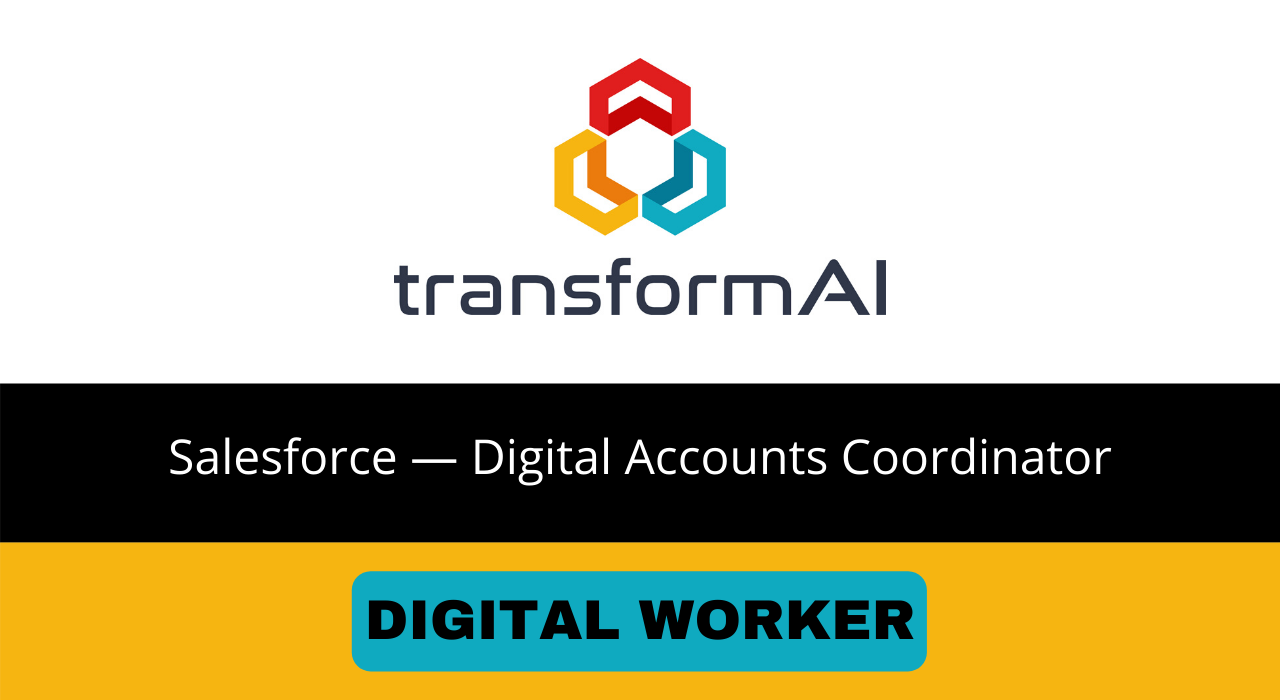 Salesforce — Digital Accounts Coordinator