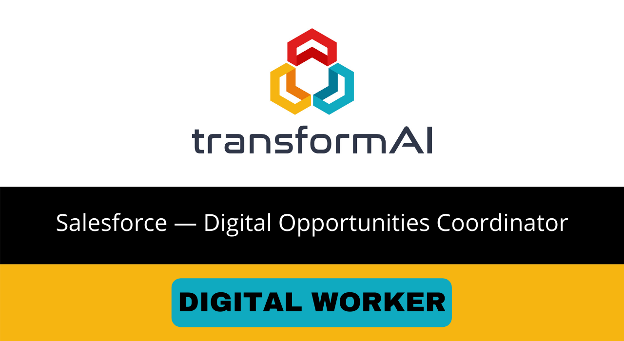 Salesforce — Digital Opportunities Coordinator