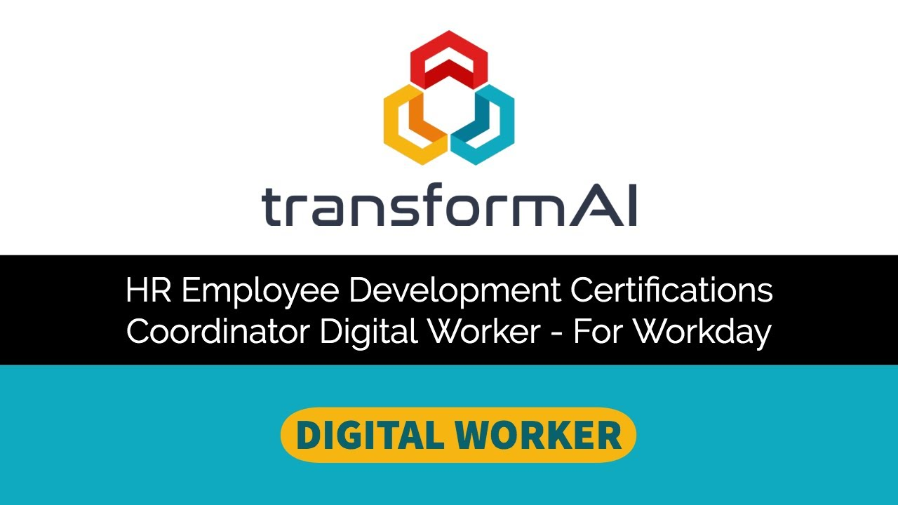 Digital Workday Employee Development Coordinator
