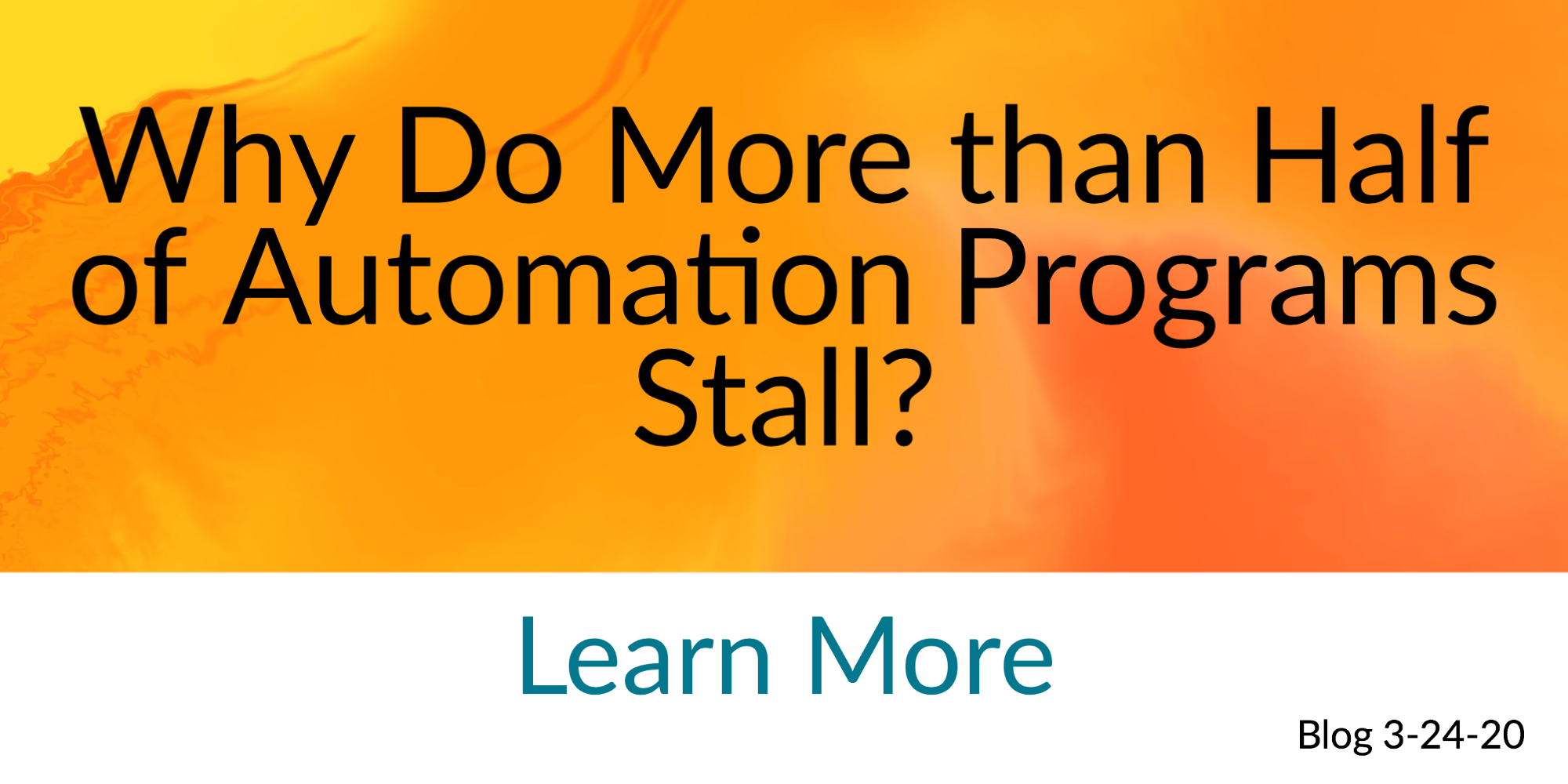 Why Do More than Half of Automation Programs Stall? Lack of Design Authority