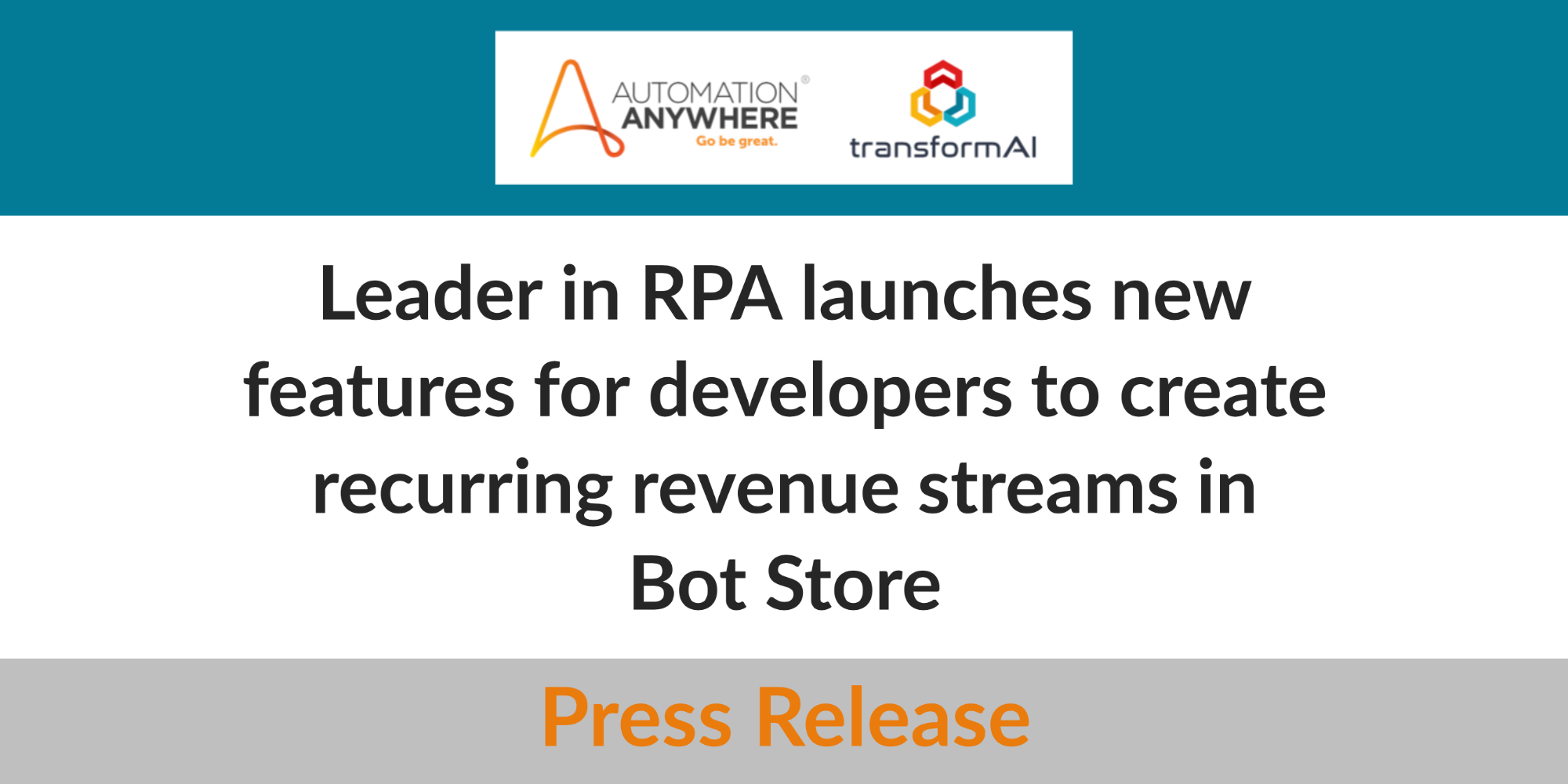 Automation Anywhere Achieves 100,000 Bot Store Downloads